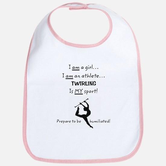 I am a girl.jpg Bib