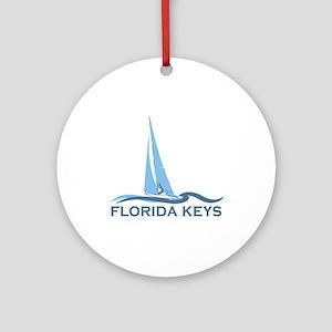 Florida Keys -Sailing Design. Ornament (Round)
