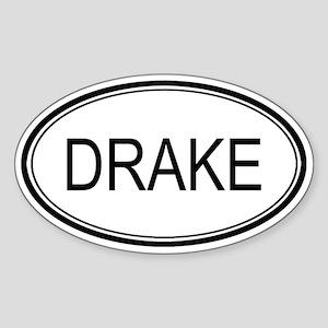 Drake Oval Design Oval Sticker