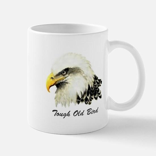 Tough Old Bird Quote with Bald Eagle Mug