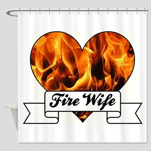 Fire Wife Shower Curtain