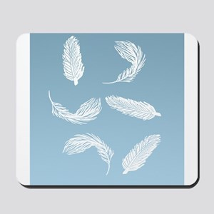 Floating Feathers Shower Curtain Mousepad