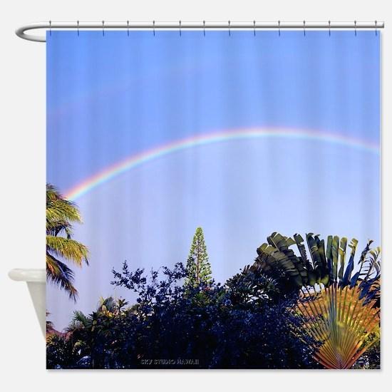 Lanikai Rainbow Hawaii Tropical Shower Curtain
