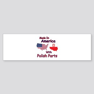 America With Polish Parts Bumper Sticker