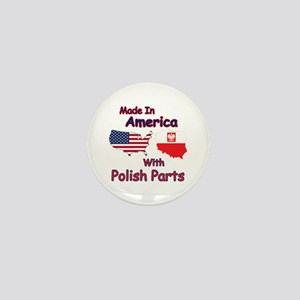 America With Polish Parts Mini Button