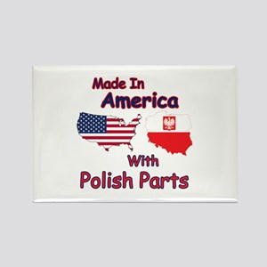 America With Polish Parts Rectangle Magnet