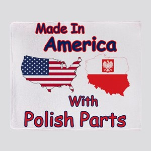 America With Polish Parts Throw Blanket