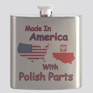 America With Polish Parts Flask