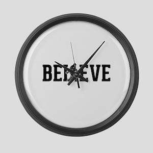 Believe Sasquatch Bigfoot Large Wall Clock