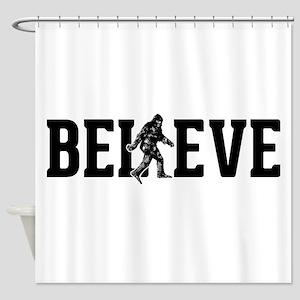 Believe Sasquatch Bigfoot Shower Curtain