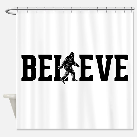 Believe Sasquatch Bigfoot Shower Curtain