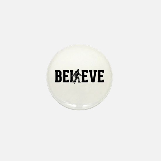 Believe Sasquatch Bigfoot Mini Button