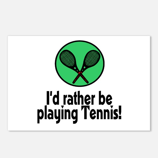 I'd rather be playing Tennis! Postcards (Package o
