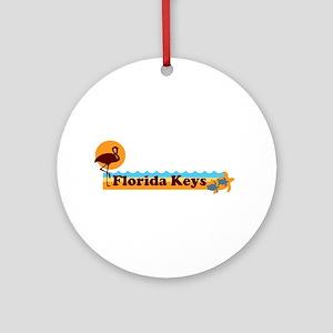 Florida Keys - Beach Design. Ornament (Round)