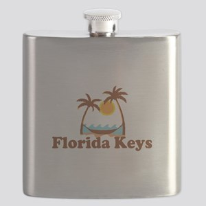 Florida Keys - Palm Trees Design. Flask