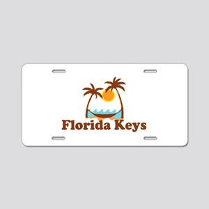 Florida Keys - Palm Trees Design. Aluminum License