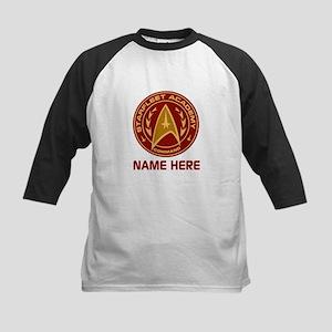 Starfleet Academy Personalized Kids Baseball Tee