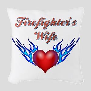 Firefighter's Wife Woven Throw Pillow