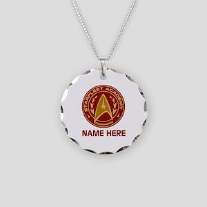 Starfleet Academy Personaliz Necklace Circle Charm
