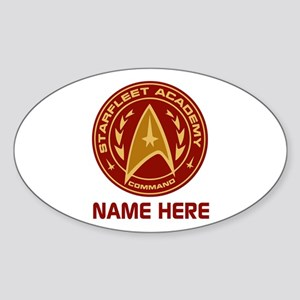 Starfleet Academy Personalized Sticker (Oval)