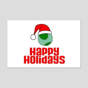 TennisChick Happy Holidays Mini Poster Print