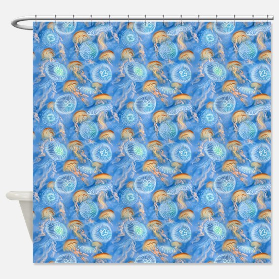 Jellyfish Swarm Shower Curtain