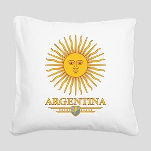Argentina Sun Square Canvas Pillow