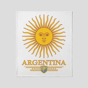 Argentina Sun Throw Blanket