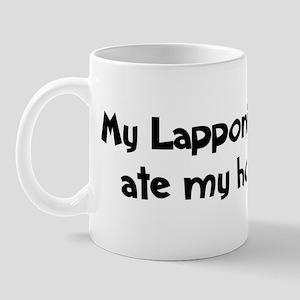 Lapponian Herder ate my homew Mug