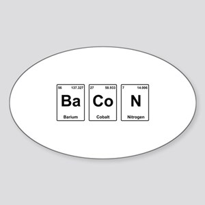 Bacon Periodic Table Sticker (Oval)