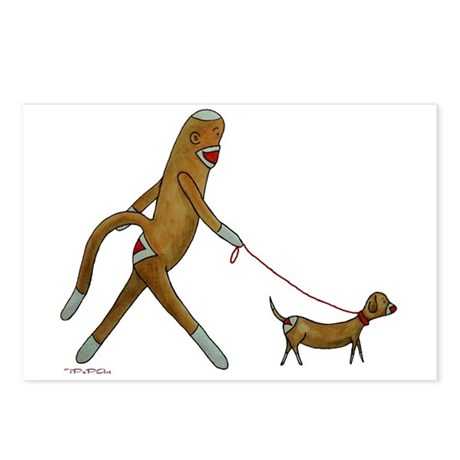 Sock Monkey and Dachshund Postcards (Package of 8)