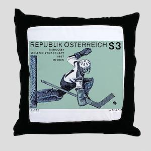 Vintage 1967 Austria Hockey Goalie Postage Stamp T
