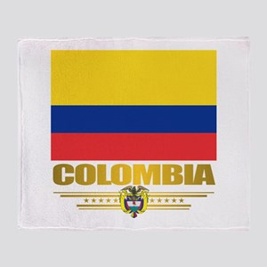 Flag of Colombia Throw Blanket