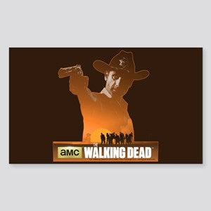 Rick Grimes Sheriff Sticker (Rectangle)