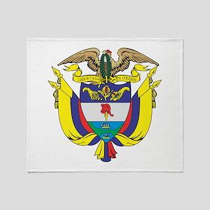Colombia COA Throw Blanket