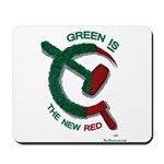 greenandred-LARGE Mousepad