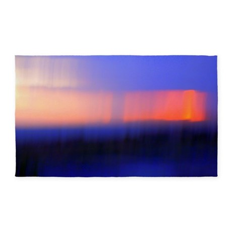Abstract Sunset 3'x5' Area Rug
