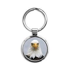 Bald Eagle Round Keychain