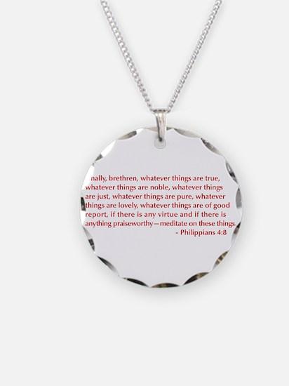 Philippians-4-8-opt-burg Necklace