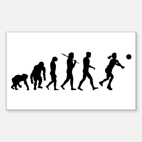 Evolution of Volleyball Sticker (Rectangle)