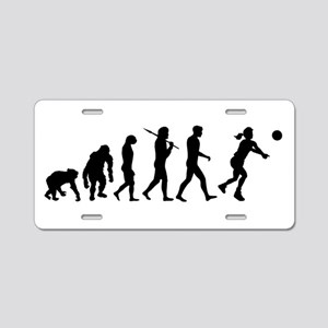 Evolution of Volleyball Aluminum License Plate
