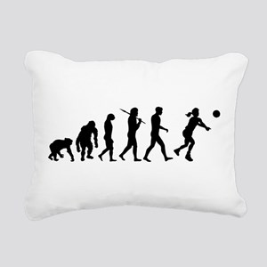 Evolution of Volleyball Rectangular Canvas Pillow