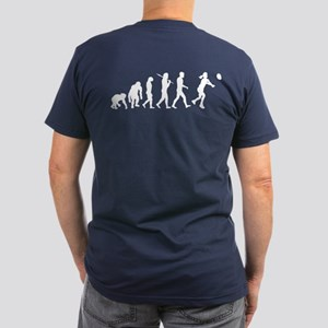 Evolution of Volleyball Men's Fitted T-Shirt (dark