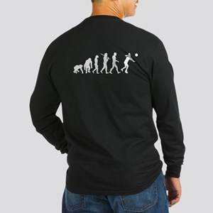 Evolution of Volleyball Long Sleeve Dark T-Shirt