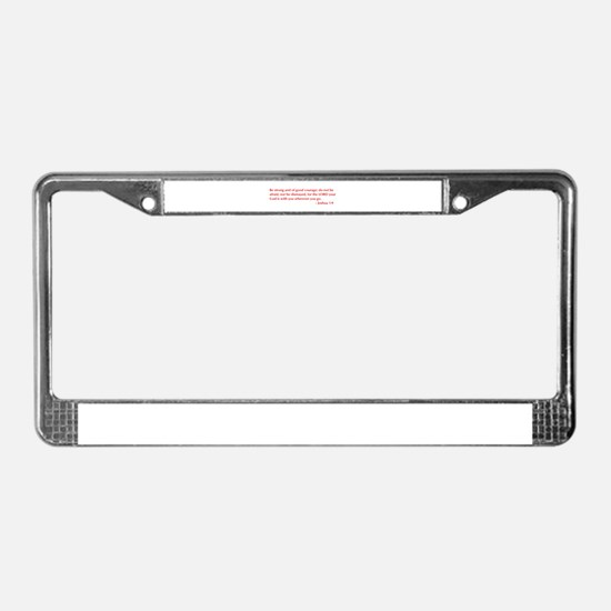 Joshua-1-9-opt-burg License Plate Frame