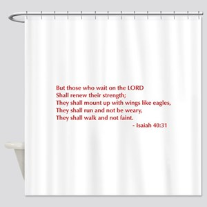Isaiah-40-31-opt-burg Shower Curtain