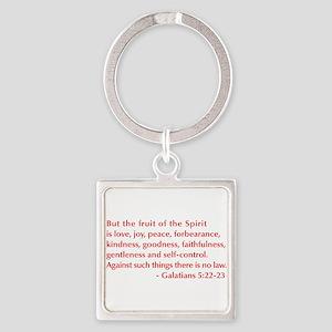 Galatians--5-22-23 Keychains