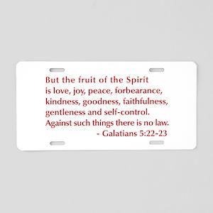 Galatians--5-22-23 Aluminum License Plate