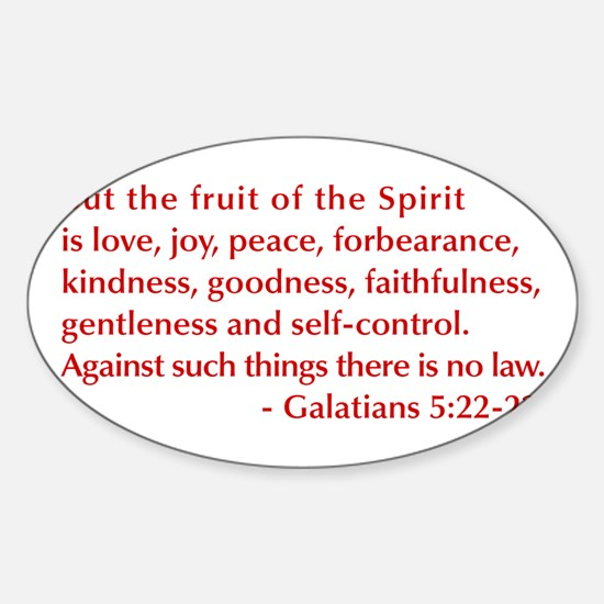 Galatians--5-22-23 Decal