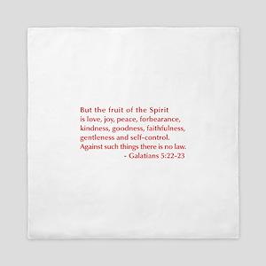 Galatians--5-22-23 Queen Duvet